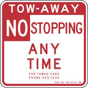 tow-away