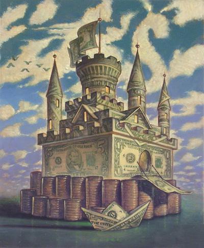 Замок из денег