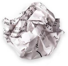 скомканная бумага, резюме