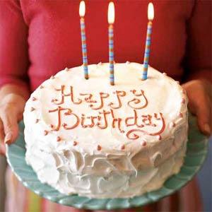 торт и три свечи, день рожденья